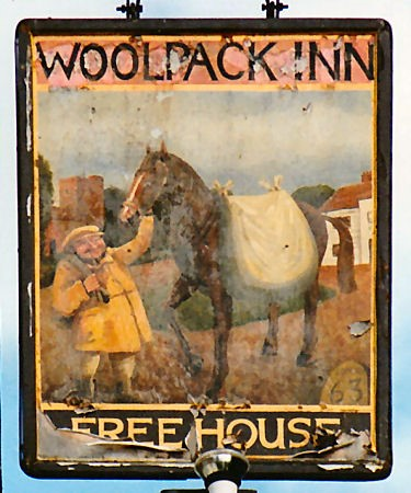 Woolpack Inn Sign - With Mr Leonard